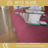 mensola di vetro Tempered della mobilia di 3-12mm con i fori, angoli rotondi