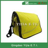 Желтый мешок посыльного цвета с черным плечевым ремнем Webbing