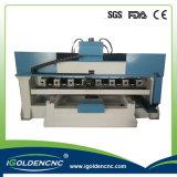 4. Mittellinien-Tisch-bewegliche Zylinder-Stich CNC-Maschine