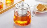 mini théière 450ml/600ml en verre avec l'infusion d'acier inoxydable pour le grossiste