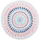 ふさが付いている100%年の綿の円形の円によって印刷されるタオル