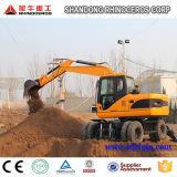 바퀴 굴착기 X120-L 의 타이어 굴착기 아시아에 있는 중국에 있는 판매를 위한 12 톤