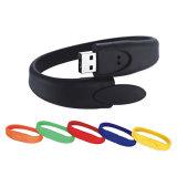Movimentação da pena da memória Flash do USB do bracelete do silicone
