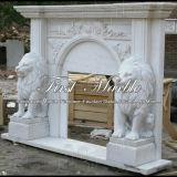 Marmorsteingranit-weiße Carrara-Kamin-Einfassung Mfp-349