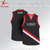 Healongの人のスポーツのジャージのチーム一定のバスケットボールのユニフォーム