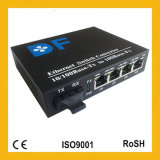 1000mbase los 20km SM Dual Fiber 4RJ45 Fiber Optic/Media Converter