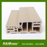 Perfil de madera compuesto plástico WPC puerta marco de la puerta jamba de la puerta (TVAS-100)