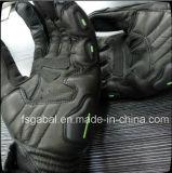 Energia del mostro che corre i guanti di cuoio di sport del motociclo