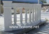 Balaustra di pietra intagliata bianca pura