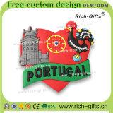 Подгонянные выдвиженческие подарки с магнитами Португалией холодильника PVC конструкции 3D (RC-PL)