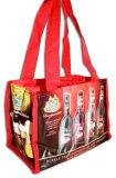 Sacchetti riciclabili non tessuti stampati abitudine per vino (FLN-9014)