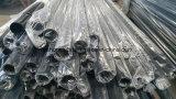 Extremo estampado y tubo de acero revestido del polvo negro del satén para el poste de la cerca