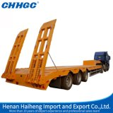 Chhgc 3axle Gooesneck Lowbed Semi Trailer con Cover su Tire