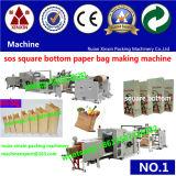 Kundenspezifischer Breite computergesteuerter Papierbeutel, der Maschinen-Papier-Quadrat-Unterseite die Herstellung der Maschine einsacken lässt