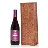 Подарок бутылки вина кладет бумажный мешок в мешки подарка бутылки вина с лоснистой Coated бумагой 157GSM