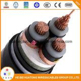 Cabo distribuidor de corrente isolado XLPE do condutor do cobre do cabo do UL milivolt