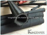 Boyau en caoutchouc hydraulique industriel flexible de pétrole de SAE100 R5