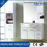 Gabinete de banheiro clássico do PVC da parede com gabinete lateral