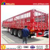 반 3개의 차축 수송 동물성 높은 측벽 강한 말뚝 담 트럭 트레일러