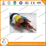 Изолированное XLPE напряжение тока Yjlv электрических кабелей низкое