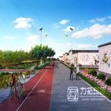 Landschaftsentwurfs-Garten-Plan-Wiedergabe mit Qualität