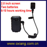 Waterproof HD1080p Police Worn Camera com Controle Remoto