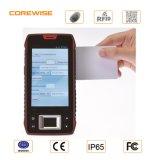 4G industriale Smartphone con lo scanner tenuto in mano del codice a barre dello schermo PDA del lettore/tocco dell'impronta digitale Sensor/RFID