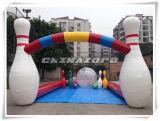Combinación inflable al aire libre del juego del bowling del nuevo juego de la manera de Zorb