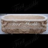 Vasca da bagno di pietra di marmo Mbm-1084 dell'oro del deserto della vasca da bagno del granito