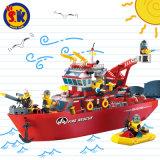 Пластичный корабль спасения пожара преграждает игрушку для малышей