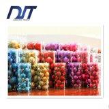 esfera Multicolor do pendente decorativo da árvore de Natal da esfera de 24PCS Crhistmas misturada