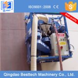 Máquina móvel da limpeza da explosão de tiro da parede interna e exterior do tanque de petróleo