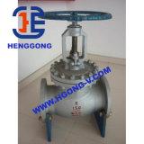 Robinet d'arrêt sphérique d'eau/huile de bride d'acier de moulage de pression DIN
