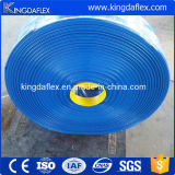 Высокий шланг разрядки полива воды эластичного пластика давления положенный PVC плоский