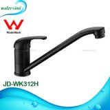 Deck Mounted Single Handle Black Finish Kitchen Sink Water Mixer