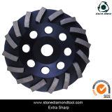 6 Inch-Diamant-Cup-Schleifscheibe/Polierdiamant-Platte