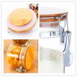 밀봉된 버클 뚜껑을%s 가진 꿀 단지 초 단지 밀봉 유리 단지