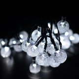 Freeshipping 30LED Outdoor Solar String Lights Warm White Crystal Ball Lumières de Noël pour jardin, jardin,
