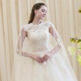 Vestidos de casamento Appliqued Strapless cheios do vestido de esfera do comprimento dos desenhadores os mais novos com trens longos (PF10034)