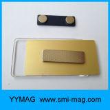 Suporte de emblema plástico magnético do Tag conhecido do Neodymium retangular em branco