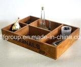 Boîte en bois laquée par forces de défense principale vitreuse à extrémité élevé à thé