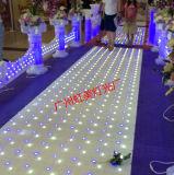 LED iluminado por las estrellas pista de baile en la Etapa efecto de iluminación para la boda