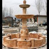 Fontana rossa Mf-1038 di Ny del giardino di pietra di marmo del granito