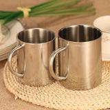 Doppia tazza dell'acciaio inossidabile della tazza di caffè della tazza del metallo delle pareti 220ml