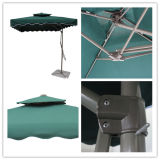 2.5X2.5meter Porte-clés en acier parapluie Garden Outdoor Umbrella Hanging Parasol