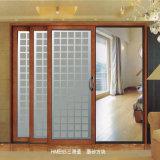 Алюминиевая раздвижная дверь для двери Degisn ванной комнаты стеклянной