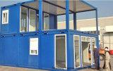 Casa do recipiente da casa do recipiente da construção de aço do painel de sanduíche/da casa painel 20ft do sanduíche