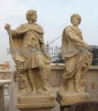 庭の装飾(SY-X1641)のための切り分けられた大理石の彫刻の石造りの切り分ける彫像