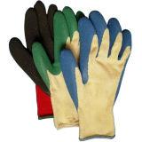 Van de Katoenen van Knited Handschoen van het Werk van het Landbouwbedrijf de Latex Met een laag bedekte Veiligheid van Handschoenen