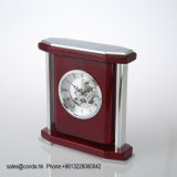 L'alta qualità comercia l'orologio all'ingrosso di legno di lusso dello scrittorio per il regalo K8039 di affari
